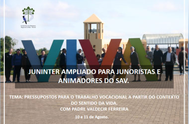 Juninter Ampliado para Junoristas e Animadores do SAV.