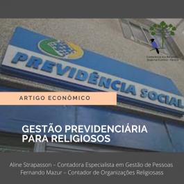 GESTÃO PREVIDENCIÁRIA PARA RELIGIOSOS