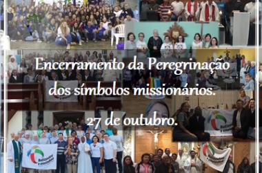 Convite para o Encerramento da Peregrinação dos Símbolos Missionários.